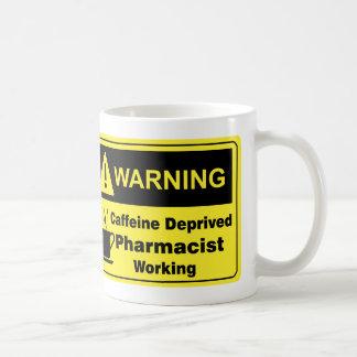 Koffein-warnender Apotheker Kaffeetasse