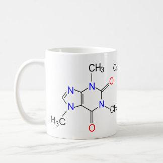 Koffeinmolekül Kaffeetasse