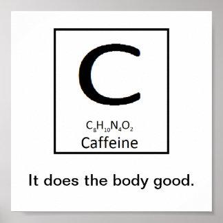 Koffeinplakat Poster