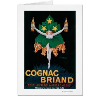 Kognak Briand förderndes Plakat Grußkarte
