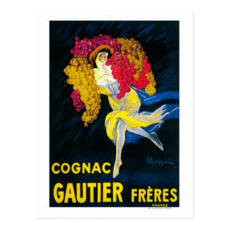 Kognak Gautier förderndes PosterFrance Postkarte