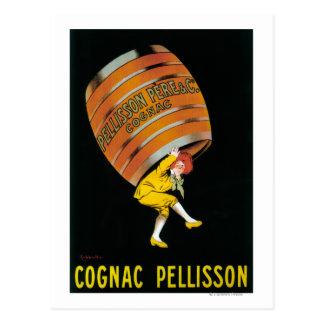 Kognak Pellisson förderndes PosterFrance Postkarten