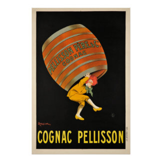 Kognak Pellisson Getränkefass-Vintages Plakat