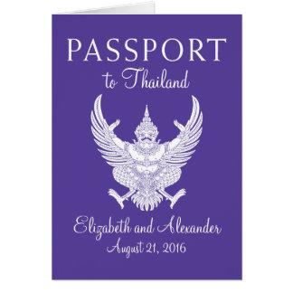 KOH Samui Thailand Hochzeits-Pass Karte