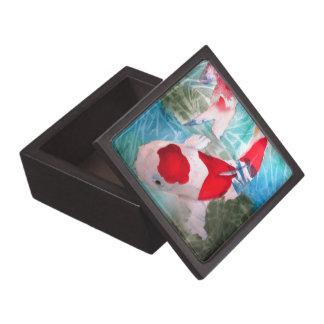 Kohaku Koi 2 japanische Aquarell-Fischkunst Schachtel