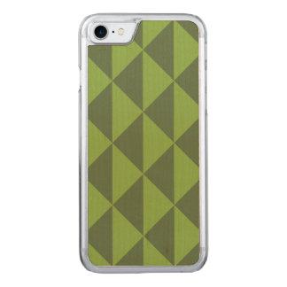 Kohl-Grün-Pfeil-Muster geometrisch Carved iPhone 8/7 Hülle