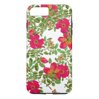 Kohl-Rosen-Blumen-Blumenkunst iPhone 7 Fall iPhone 8 Plus/7 Plus Hülle