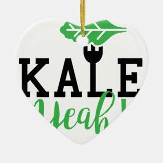 Kohl-Yeah lustiger veganer Entwurf Keramik Ornament