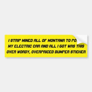 Kohle angetriebenes elektrisches Auto… Autoaufkleber