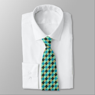 Kohlen-olivgrüner aquamariner grün-blauer krawatte