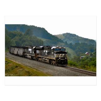 Kohlen-Zug Postkarte
