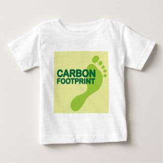 Kohlenstoff-Abdruck Baby T-shirt