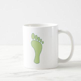 Kohlenstoff-Abdruck-Grün Kaffeetasse