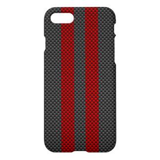 Kohlenstoff-Faser-Art Burgunders rote, die iPhone 8/7 Hülle