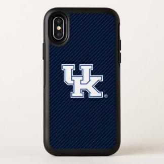 Kohlenstoff-Faser-Muster Kentuckys | BRITISCHES OtterBox Symmetry iPhone X Hülle