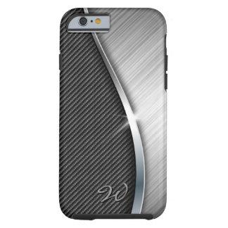 Kohlenstoff-Faser u. gebürsteter Kasten des Tough iPhone 6 Hülle