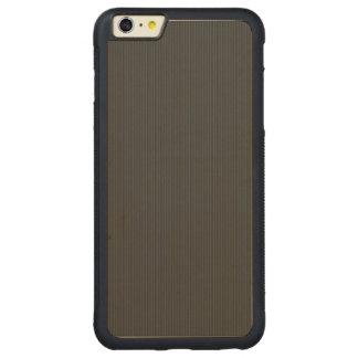 Kohlenstofffaser Muster Carved® Maple iPhone 6 Plus Bumper Hülle