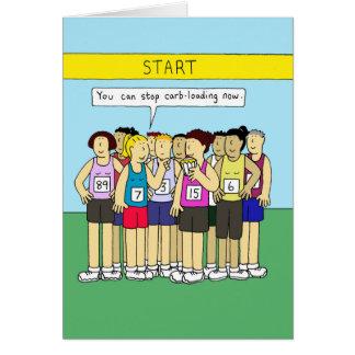 Kohlenstoffladen für Läufer, Damen, die Kuchen Grußkarte