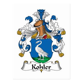Kohler-Familienwappen Postkarte