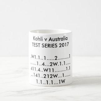Kohli V Australien TEST-REIHE 2017 Kaffeetasse