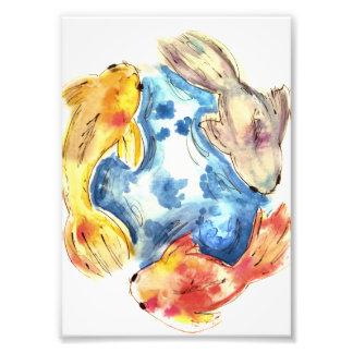 Koi Fisch-Aquarelle Fotodruck
