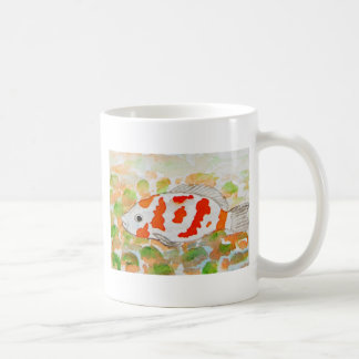 Koi Fisch-Aquarellkunst Kaffeetasse