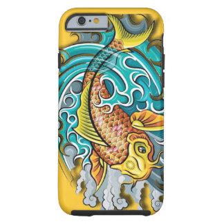 Koi Fisch-Kunst Tough iPhone 6 Hülle