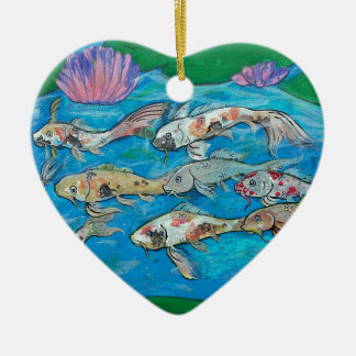 Koi Fisch-persönlicher Zen-Wasser-Garten Keramik Ornament