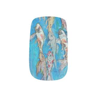 Koi Fisch-Schwimmen-Nägel Minx Nagelkunst