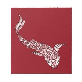 Koi Fische Notizblock