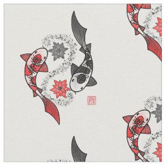 Koi Fische Yin Yang Motiv-Stoff Stoff