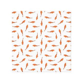 Koi fischt Motiv-Muster Leinwanddruck