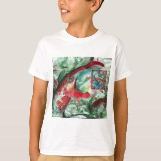 Koi Karpfen-Fisch-Malerei T-Shirt