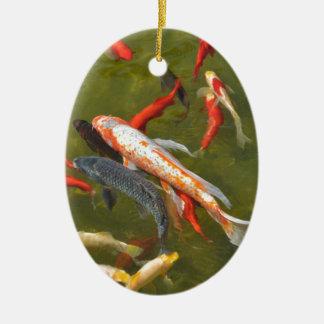 Koi Karpfen im Teich Keramik Ornament