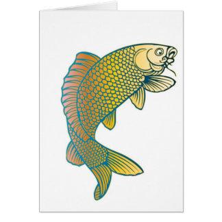 Koi Karpfen-Japaner-Fische Karte