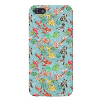 Koi pond Aquarelle iPhone 5 Schutzhülle