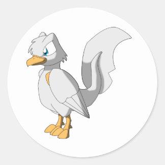 Koi Reptilian-Vogel - Platin Ogon Runder Aufkleber
