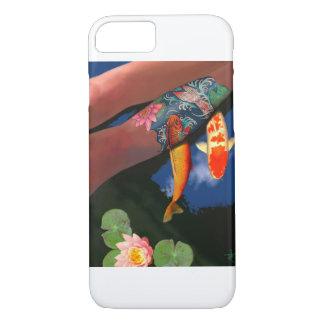 Koi Tätowierungs-Lilien-Teich-Telefon-Kasten iPhone 8/7 Hülle