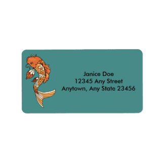 Koi Teich-Adressen-Etikett Adressaufkleber