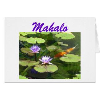 Koi u. Lilien Mahalo Notecard Karte