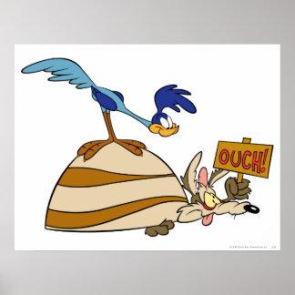 Kojote des Wile-E und STRASSE RUNNER™ Poster