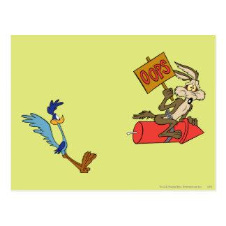 Kojote des Wile-E und STRASSE RUNNER™ Postkarte