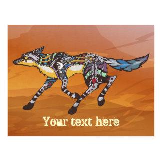 Kojote die Trickster-Postkarte Postkarte