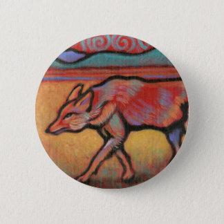 Kojote - Geist-Tier - Totem Runder Button 5,1 Cm