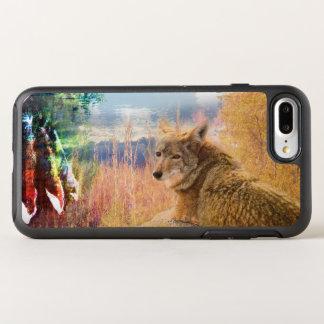 Kojote gestaltet nordamerikanischer Park-Hund im OtterBox Symmetry iPhone 8 Plus/7 Plus Hülle