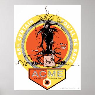 Kojote-Gipfel des Wile-E - 68%, das sind Sie siche Poster