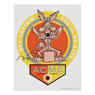 Kojote-Gipfel des Wile-E - sicheres 68% sind Sie S Plakat