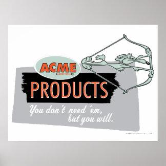 Kojote-Gipfel-Produkte 9 des Wile-E Plakate