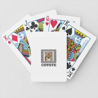 Kojote in einem Kasten Bicycle Spielkarten