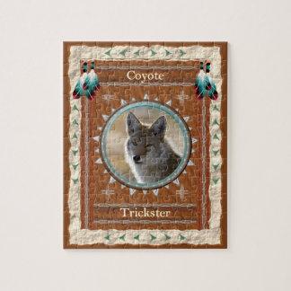 Kojote - Trickster- Puzzle mit Kasten Puzzle